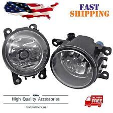 Pair Fog Light Fit For Ford Explorer 2011-2015 Front Bumper Lamp Driving
