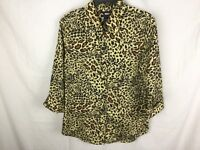 Westbound Animal Print 3/4 Length Sleeve Women's Top Size 8