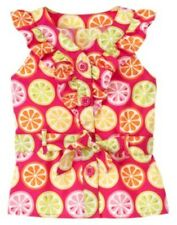 NWT Gymboree Sunny Citrus Yellow Lemon Slice Shift Dress Size 6-12months