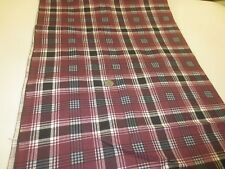 "2049.  PLAID FLANNEL Apparel or Craft COTTON & POLYESTER Fabric - 45"" x 5 Yds."