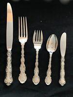 STRASBOURG BY GORHAM STERLING FLATWARE SET TRUE DINNER SIZE  WITH SERVERS