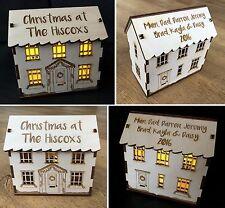 Personalizado Grabado 3D luz casa de decoración de Navidad de regalo de Navidad Presente