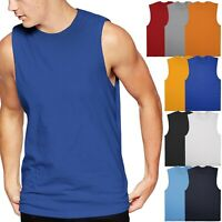 Mens TANK TOP MUSCLE Tee Basic Sleeveless Shirt Plain Cotton Gym Shirt
