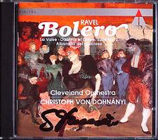 Christoph von DOHNANYI Signed RAVEL Bolero Valse Daphnis et Chloe Alborada CD