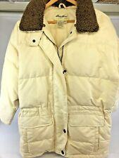 Eddie Bauer Goose Down Jacket Winter Coat Womens Medium White