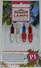 P1 PUSH IN LV 8VOLT TWINKLING GENUINE NOMA SPARE XMAS TREE LIGHT LAMP BULB
