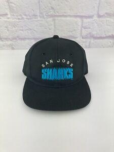 RARE Vintage 1990's San Jose Sharks NHL Snapback Hat Hockey G Cap Youngan 90s