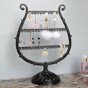 1PC Jewelry Storage Rack Necklace Earrings Holder Display Stand Organizer E H.ZY