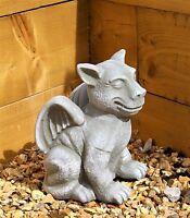 Dragon Garden Ornament-Gargoyle-Sculpture Ceramic Statue-Decorative Gift Welsh
