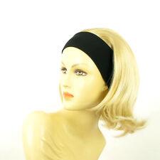 Stirnband Perücke mit lang golden blond Docht sehr hellblond ref XENA 24bt613
