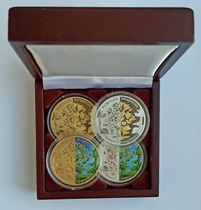 Exclusive! 20 rubles 2013 Hipericum Square-stemmed St.John's Wort 4 Silver Coin