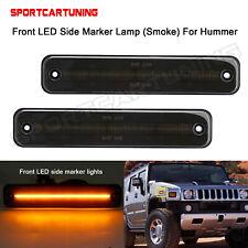 Smoked Lens Front LED Side Fender Marker Light Lamp For Hummer H2 03-09 25952319
