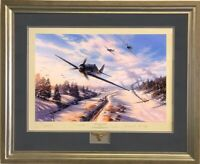 GREEN HEART WARRIORS by Nicolas Trudgian - signed by Luftwaffe FW190 Aces FRAMED