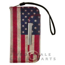Apple iPhone 5C/i5C/Lite Wallet Pouch - USA Flag Case Cover Shell Shield