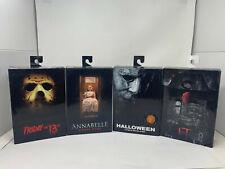 Horrorfilm Figuren 4-er Set B-Ware Film Klassiker Halloween Annabelle Fd13 NECA!