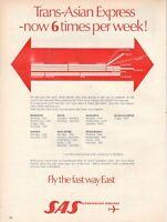 1968 Original Advertising' SAS Scandinavian Airlines System Company Aerial Asian