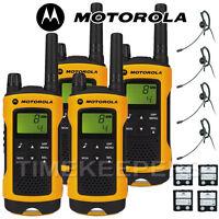 10Km Motorola TLKR T80 Extreme IPX4 Rugged All Weather Two Way Radios Quad Pack