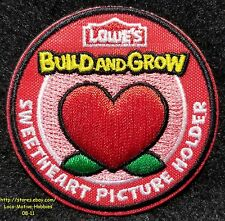 LMH PATCH Badge  2015 SWEETHEART PICTURE HOLDER Frame  LOWES Build Grow Heart