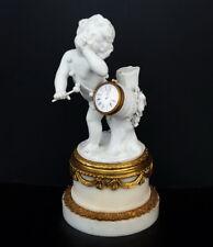 Putto mit Trommel  Sevres  Biskuitporzellan Uhr um 1880   France porcelain clock