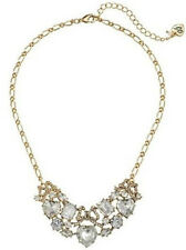 NWT Betsey Johnson Women's Statement Frontal Bow Heart Crystal 1 Choker Necklace