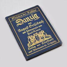 Danzica-Luoghi della cultura volume 6-agosto Grisebach-Paul Renner - 1908