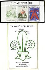 ST. THOMAS & PRINCE BOY SCOUTS SCOTT #846-47 STAMP SET & SOUVENIR SHEET 1988