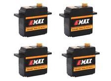 4x Emax ES09MA Metallgetriebe Micro Mini Servo 15g 0,08s 2,6kg Kugellager ES08MA