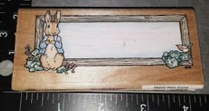 Peter rabbit frame, stampendous,282,rubber, wood