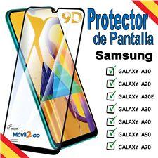 Protector de Pantalla Samsung A10 A20 A20e A30 A40 A50 A70 Cristal Templado 9D H