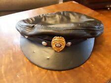 Harley Davidson Black Genuine Leather Cap/Hat Size M
