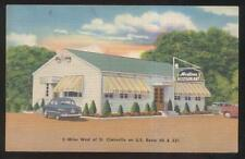 Postcard ST CLAIRSVILLE Ohio/OH  Martines Roadside Restaurant view 1940's