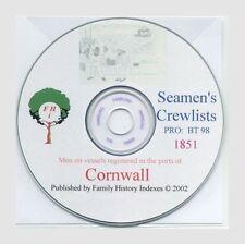 SEAMEN, CORNWALL - essential 1851 source - Genealogy