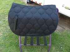 ENGLISH ALL PURPOSE SADDLE PAD HORSE BLACK SPINE 22 FLAP 18 WIDTH 24