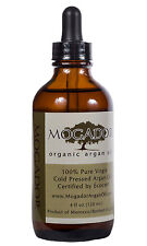100% Pure cold-pressed Certified Organic Argan Oil 4 oz for Hair, Face & Body