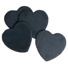 Natural Slate Heart Coaster Drinks Tea Coffee Table Mat Bulk Sale Valentine Gift