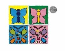 6 Make A Butterfly Stickers Kid Insect Party Goody Loot Bag Filler Favor Supply