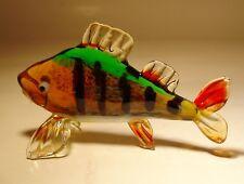 """Blown Glass """"Murano"""" Figurine Yellow PERCH Fish"""