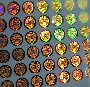 Hologram Circle Warranty Void Tamper Proof Labels Security Seal Stickers 10mm UK