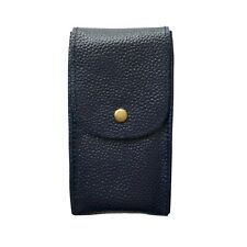 Watch Travel Pouch Leather Storage Case Handmade Navy Blue