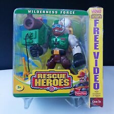 Fisher Price Rescue Heroes Wilderness Force Rocky Canyon & VHS Video Cave In