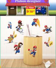 Super Mario  Wall Decor Decal Sticker Removable Nursery Girls Kids Baby Art DIY