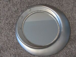 "Wall Hanging Mirror ""The Moon and Stars"" in Silver Frame Color 12-13"" Diameter"