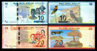 BOLIVIA Set 2 PCS 10 20 Bolivianos 2018 P-NEW NEW DESIGN UNC