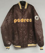 VINTAGE SAN DIEGO PADRES SATIN JACKET COOPERSTOWN COLLECTION MAJESTIC MLB SZ 2XL