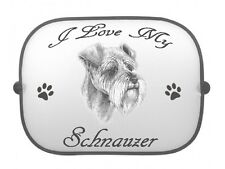 x1 Schnauzer Printed Dog Design Car Window Sun Shade by paws2print
