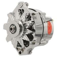 Powermaster Alternator 17102; 65 Amp Chrome GM 10DN External for Chevy