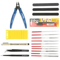 19Pc Basic Craft Tools Set Car Model Building Repair Kit For Gundam Modeler Tool