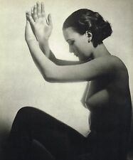 1930s Vintage Female Nude Model John Everard Art Deco Photo Gravure Print