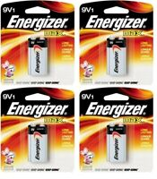 Energizer Max Alkaline Batteries 9V, 4 Packs (1 Batteries Per Pack), EXP 2023
