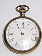 Antique Am. Waltham Yellow Gold Plate Pocket Watch /Case/Movement, 17 Jewels